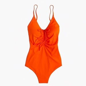 J. Crew • Playa Laguna Ruched One Piece Swim
